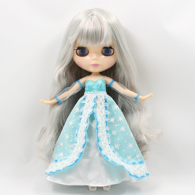 ICY Neo Blythe Doll Grey Wavy Hair Jointed Body