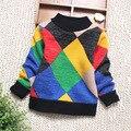 Muchachos de Los Bebés jumper Otoño Invierno Plus velvetSweaters Babi Niños Niños Suéter de Punto prendas de Vestir Exteriores Caliente de Cuello Alto Suéter