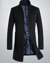 Оптовая осень и зима новый мужской шерстяные пальто пальто длинные мужские шерстяные куртки Шерстяные пальто