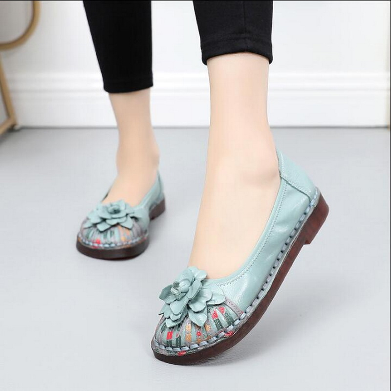 2019 Spring Women Shoes Genuine Leather Ballet Flats Soft Slip On Loafers Women Casual Handmade shoes Soft Comfortable Shoes2019 Spring Women Shoes Genuine Leather Ballet Flats Soft Slip On Loafers Women Casual Handmade shoes Soft Comfortable Shoes