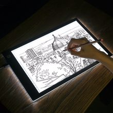 A4 LED Light Drawing Board Tracer Dimmable Calibration LED sketch tablet Tracing Artist table Light Pad Canvas for Painting(China)