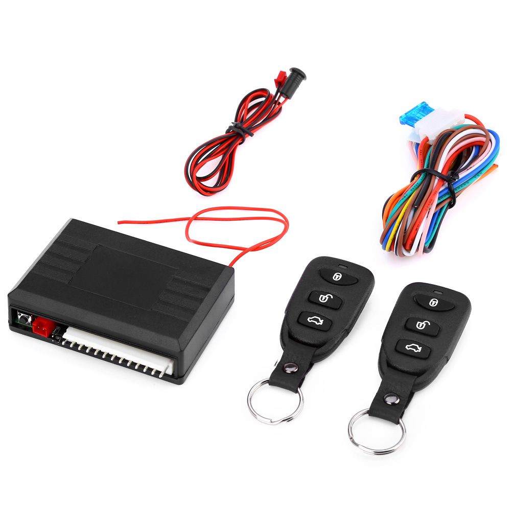 Universal Automobile Remote Central Locking Car Alarm Power Window Switch 10 – 14V 315 – 433.92MHz Car Keyless Entry System