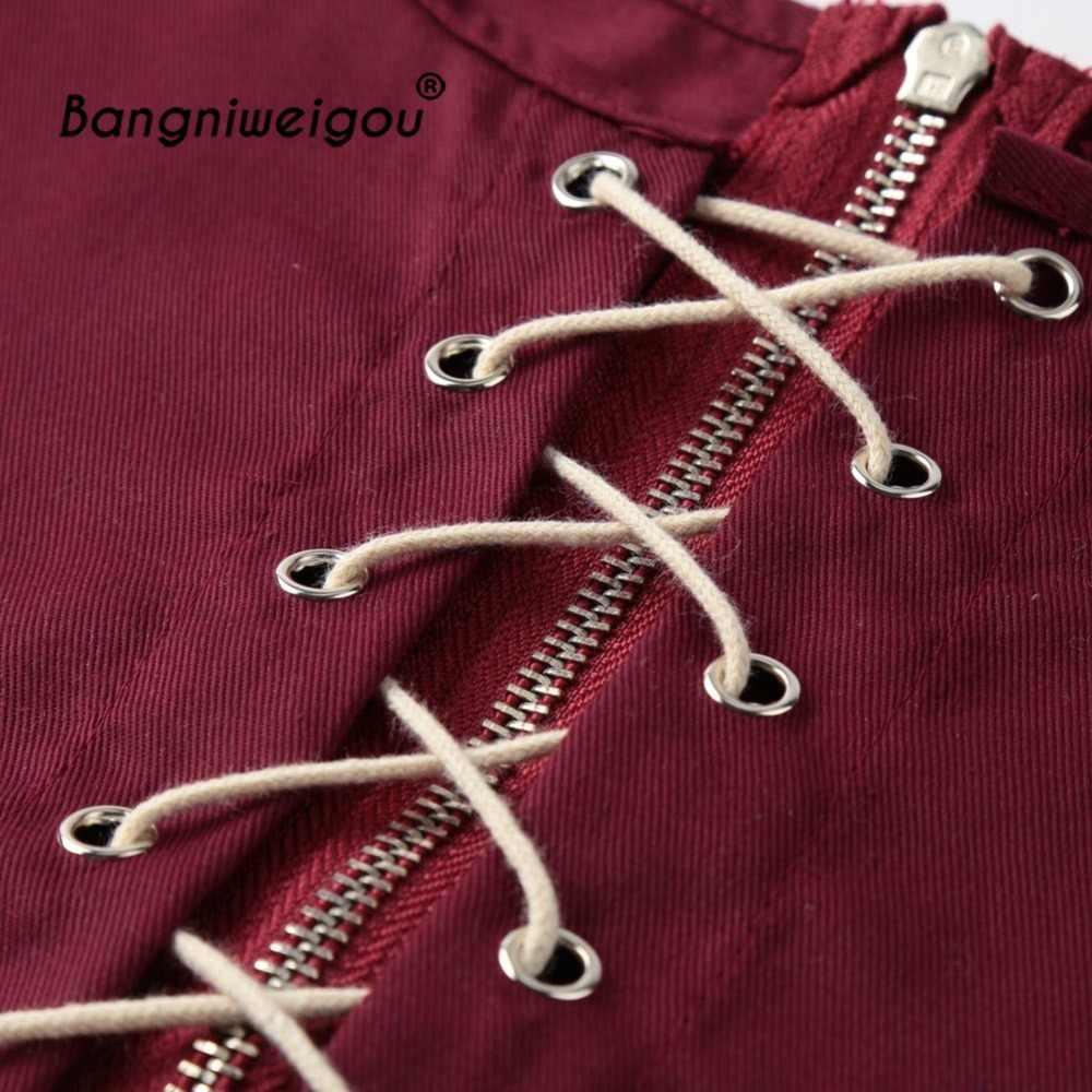d9b44d14a7 ... Lace Up Women Wide Waist Belt Vintage Crop Top Goth Black Burgundy Tank  Shoulder Corset Bandage