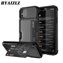 Case for iPhone XR XS 6 7 8 X Cover Soft TPU with Car Magnet and Credit Card Slots Back Cover for iPhone 6 7 8 Plus XS MAX Case