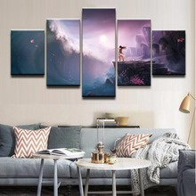 Modern Canvas HD Prints Modular Pictures Wall Art 5 Pieces Anime Unknown Painting Landscape Poster Home Decorative Framework high quality canvas print poster framework painting wall art home decorative 5 pieces anime unknown landscape modular pictures