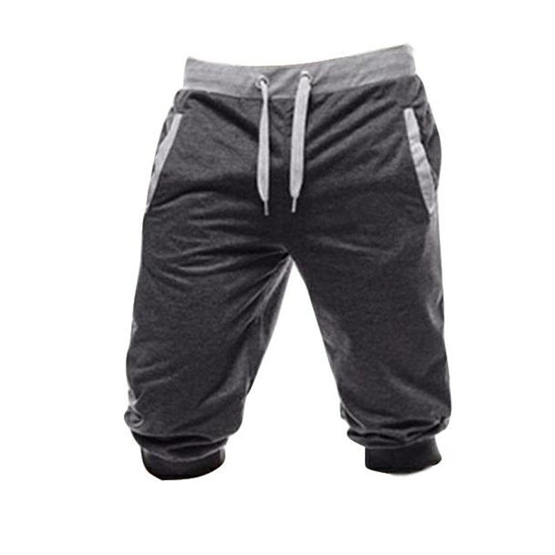 2019 New Men Baggy Jogger Casual Slim Harem Shorts Soft 3/4 Trousers Fashion New Brand Men Sweatpants Summer Comfy Male Shorts
