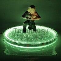 Fullmetal Alchemist Edward Elric Led Magic Circle Action Figure Model Toy Anime Fullmetal Alchemist Figurine Led Changing+Remote