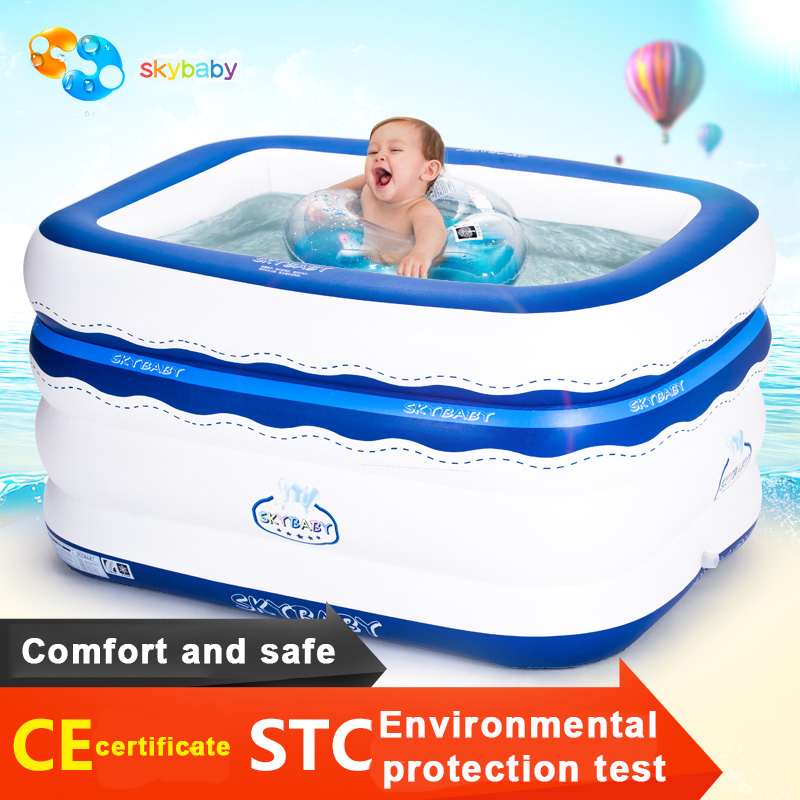 Sallei Square Inflatable Baby Swimming Pool Baby Thickening Swimming Bucket Infant Ploughboys Ocean Ball Pool dual slide portable baby swimming pool pvc inflatable pool babies child eco friendly piscina transparent infant swimming pools