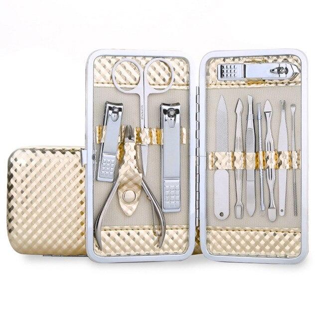 Scissor Case +1 Set 12 Pcs Nail Clipper Kit Nail Care Scissor Set Pedicure Tweezer Knife Ear Pick Utility Manicure Set Tools