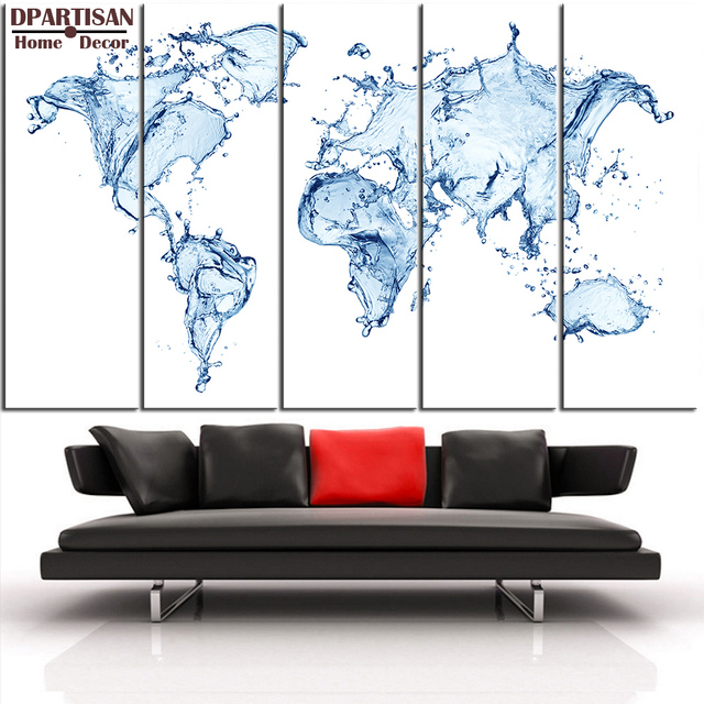 Dpartisan 5pcs panel world map canvas print world map wall art set dpartisan 5pcs panel world map canvas print world map wall art set world map print water gumiabroncs Gallery