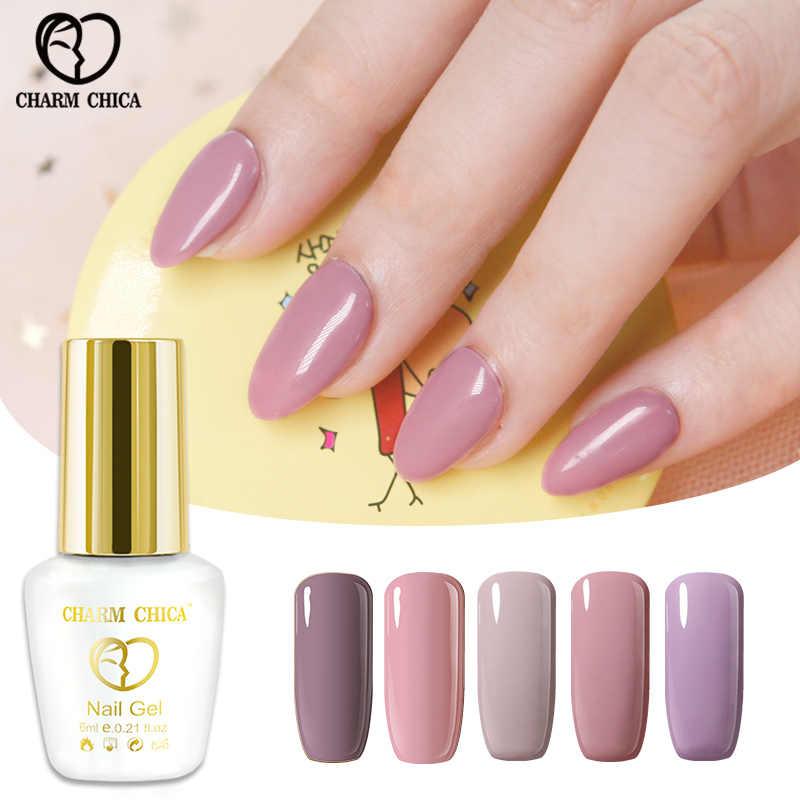Encanto Chica 6 Ml Esmalte De Gel De Uñas Rosa Color Nude