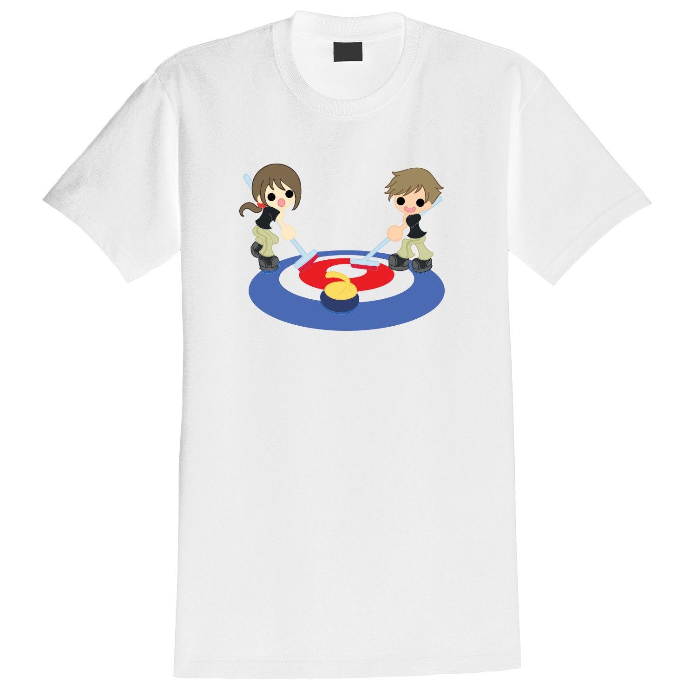 Curling Competition Cartoon Print T-shirt Harajuku Tops Fashion Classic Unique t-Shirt gift free shipping