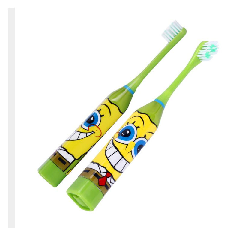 Cute Pink Green Blue Kids Electric Toothbrush For Children Boys Girls With Soft Double-sided Replacement Head Japan Cartoon