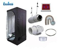 Komplette innen wachsen zelt kits Größe 80x80x160 CM = 2'7''x2'7''x5'3''. mit 90 W LED wachsen licht und belüftung ausrüstung.