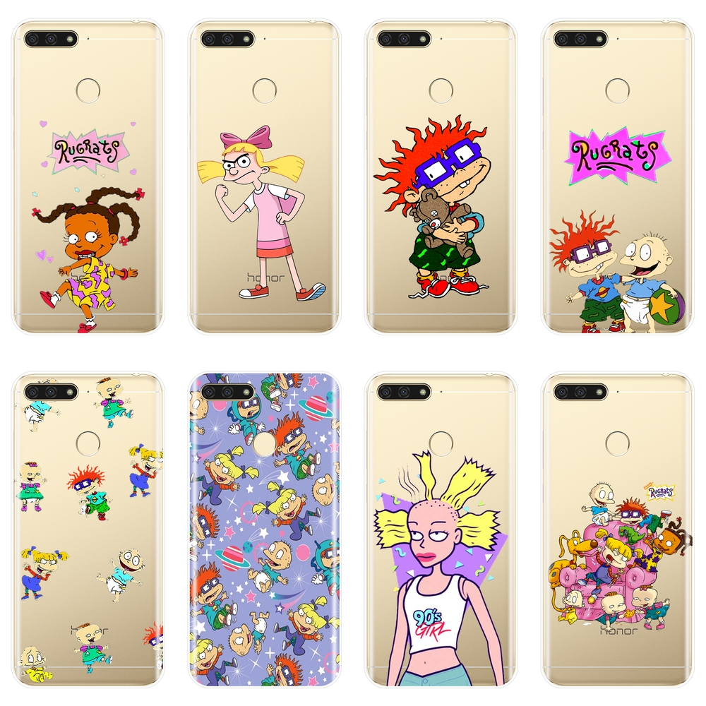 Phone <font><b>Case</b></font> For <font><b>Huawei</b></font> Y3 Y5 Y6 II <font><b>Y7</b></font> 2017 Pro Soft Silicone Rugrats Cute <font><b>Girl</b></font> Back Cover For <font><b>Huawei</b></font> Y5 Y6 <font><b>Y7</b></font> Prime 2018 Y9 <font><b>2019</b></font> image