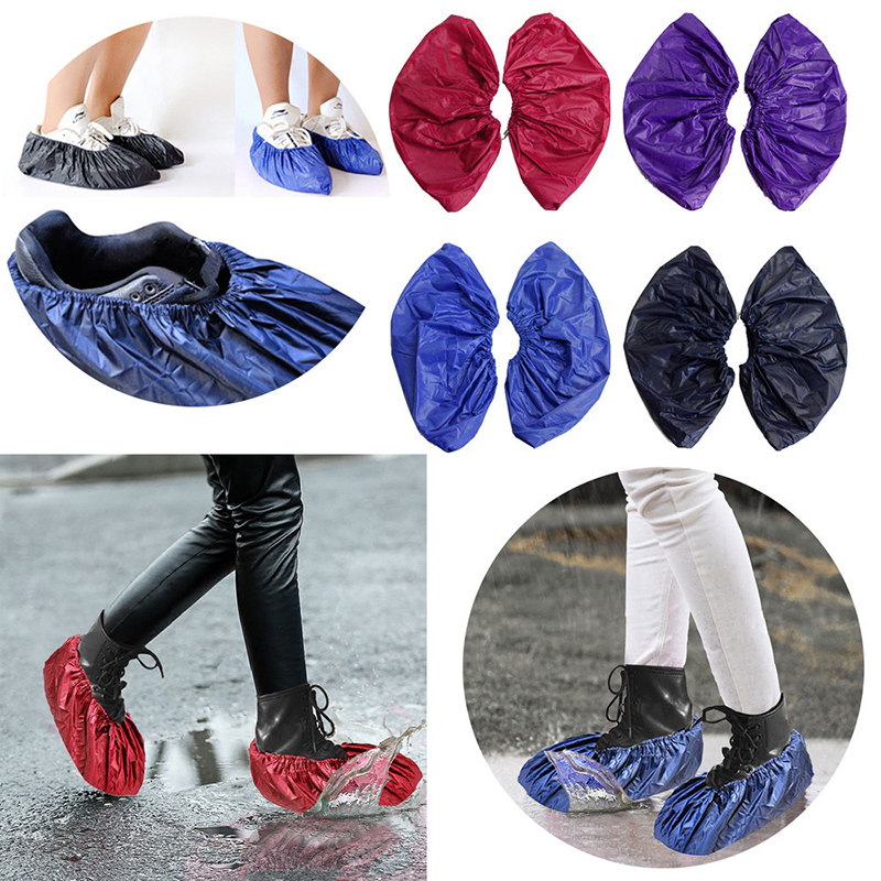 4 Colors Waterproof Shoes Covers For Adult Slip-resistant Pads Washable In Rain Day Overshoes Protector Reusable  Shoe Cover