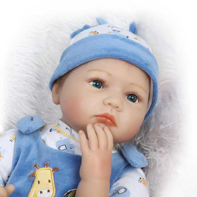 c7fc7d0c8552 Online Shop Soft Body Silicone Reborn Baby Dolls Toy Exquisite Real ...