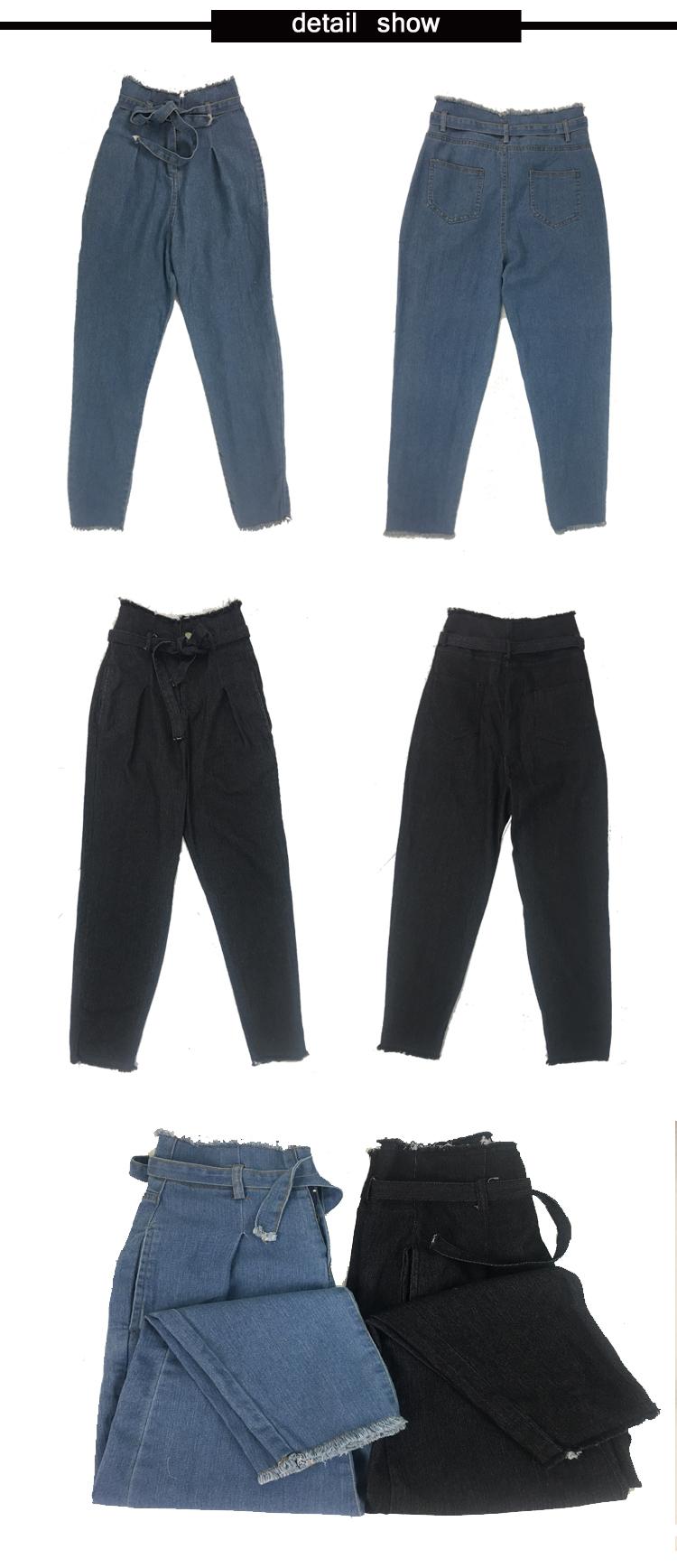 Women High Waist Jeans Sexy Jeans denim Harem Pants jeans womens High Streetwear loose Pants Black Jeans Women Plus size 6