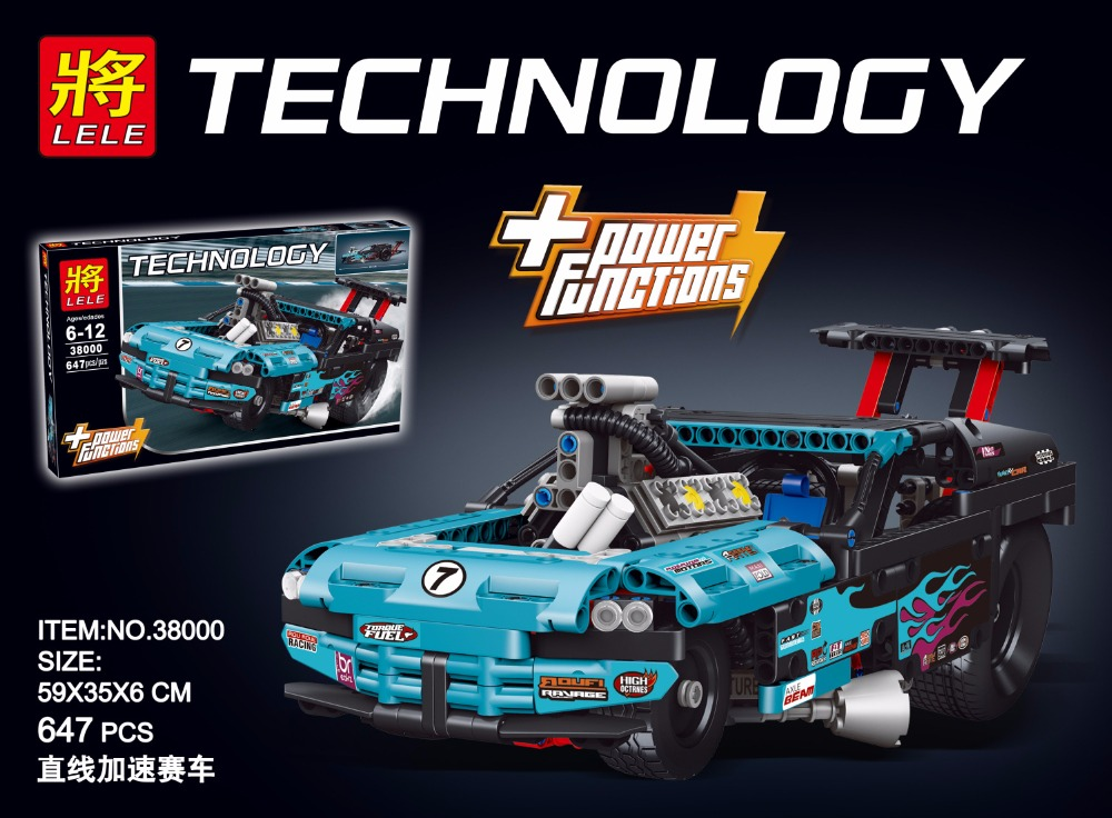 New 647Pcs Technic Figures Drag Racer Model Building Kits Blocks Bricks Toys legoings sets For Children Gift Compatible 42050 10646 160pcs city figures fishing boat model building kits blocks diy bricks toys for children gift compatible 60147