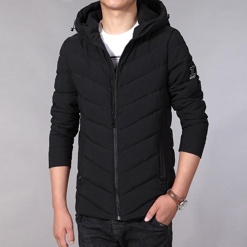 6f6cd74e3 2019 New Men Winter Jacket Fashion Cotton Padded Jacket Hooded Winter Coat  Mens Puffer Jacket Big Size L-7XL Veste Hiver Homme