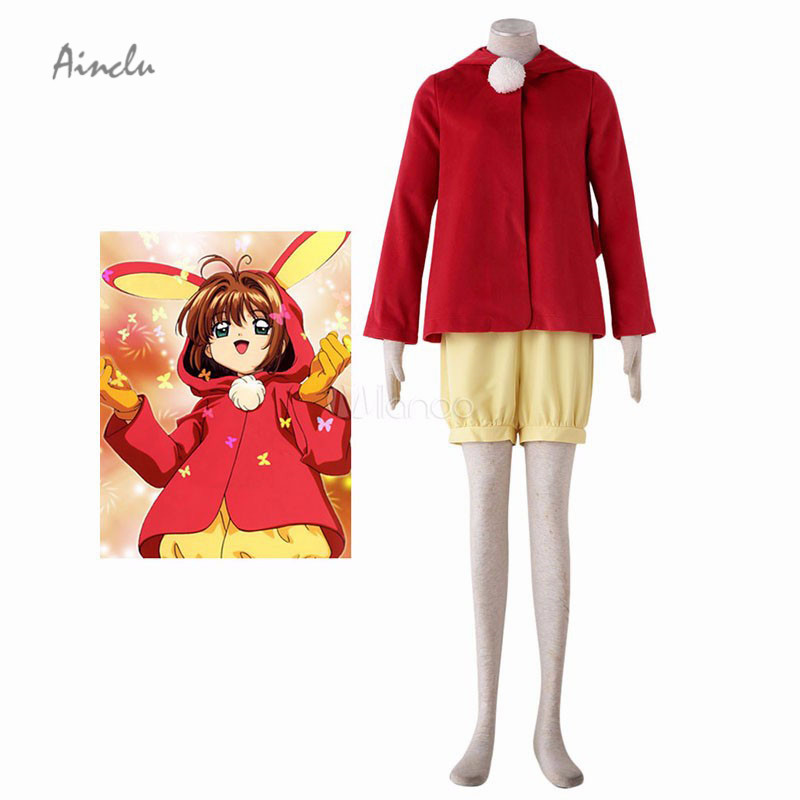 Ainclu New Fashion Cardcaptor Sakura Kinomoto Sakura Halloween Cosplay Costume Moe Rabbit Ear Version
