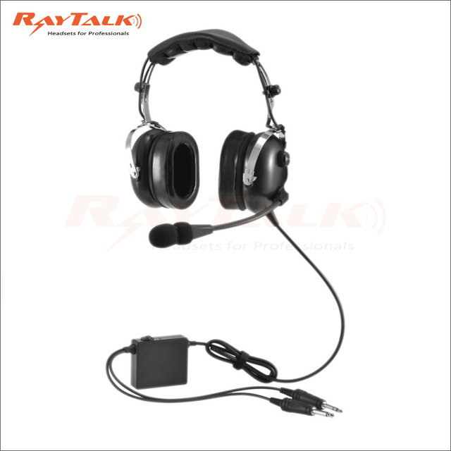 raytalk noise cancelling ran 1000ac anr aviation headset with