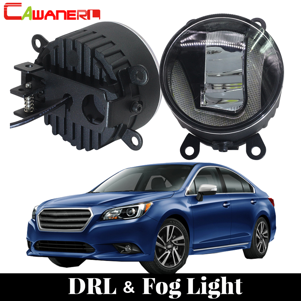 Cawanerl For Subaru Legacy 2010 2011 2012 Car LED Fog Light Daytime Running Lamp DRL White 12V Styling 2 Pieces cawanerl for toyota highlander 2008 2012 car styling left right fog light led drl daytime running lamp white 12v 2 pieces