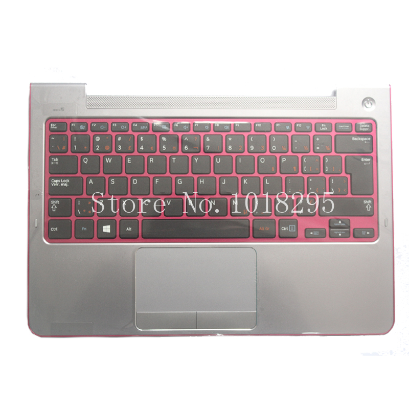For Samsung NP530U3C NP530U3B NP535U3C 530U3B 530U3C NP540U3 NP532U3C NP532U3A With C shell Red Canadian French  keyboard