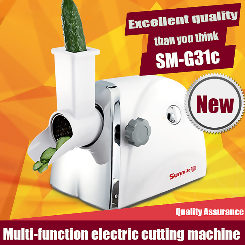 ФОТО 1PC New SM-G31c Household Slicer multi-function electric cutting slicing Machine cooking food Processor Hot