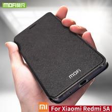 Mofi Para Xiaomi Redmi caso Para Xiaomi Redmi 5A 5A caso capa de silicone TPU suporte de couro da aleta Para Xiaomi Redmi 5A caso 360 rígido