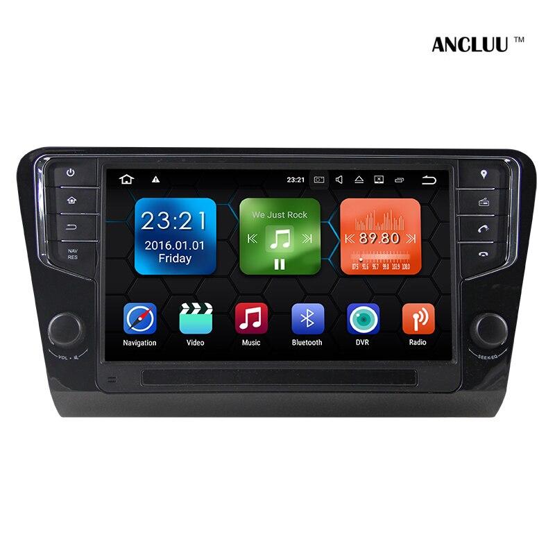 Ancluu Android 7.1 9 Lecteur DVD de voiture Pour Skoda Octavia 2014 2015 2016 2017 voiture Radio Stéréo GPS avec Wifi USB miroir lien 2G RAM