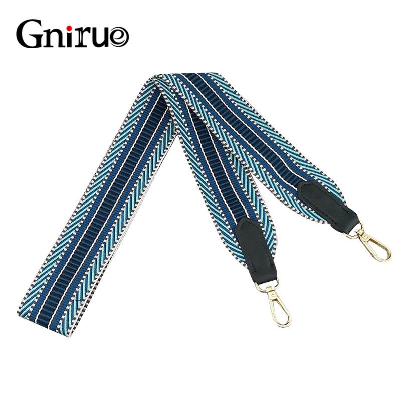 105cm Long Bands Handle Colorful Striped Bag Straps DIY Bag Accessories Parts Replacement Shoulder Belts Handbag Strap