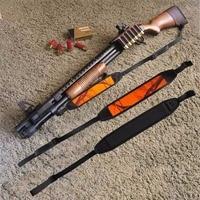 Free Shipping Tourbon Tactical Adjustable Non Slip Webbing Neoprene Shotgun Rifle Sling Orange Camo Hunting Gun