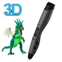 2019 Sunlu 3d Doodle pen with LED Screen With 2 Bags filament adjustable Temp Safer And Easier To Diy Doodle-black