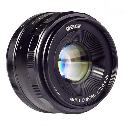 Meike MK-E-35-1.7 35mm f1.7 Large Aperture Manual Focus lens APS-C For Sony E Mount cameras NEX7 a6000 a6300 35mm f 1 6 c mount lens for aps c sensor sony e nex 7 nex6 nex5t 5r 3 a5100 a6000 a5000 a3000 a6300 a6500