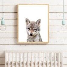 Детские лесные животные плакат для детской стены принты для художественных холстов волчонок лес ребенок животное картина Детская комната Настенный декор