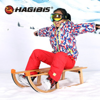 Hagибис снежные сани, уличные складные снежные сани, Буковые деревянные лыжные Буковые сани