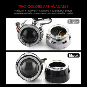 Image 2 - 2x3.0 Pro LED Lensler araba farı bi xenon Hid Projektör Lens CCFL LED Melek Gözler Halo DRL Far araba Güçlendirme Aksesuarları