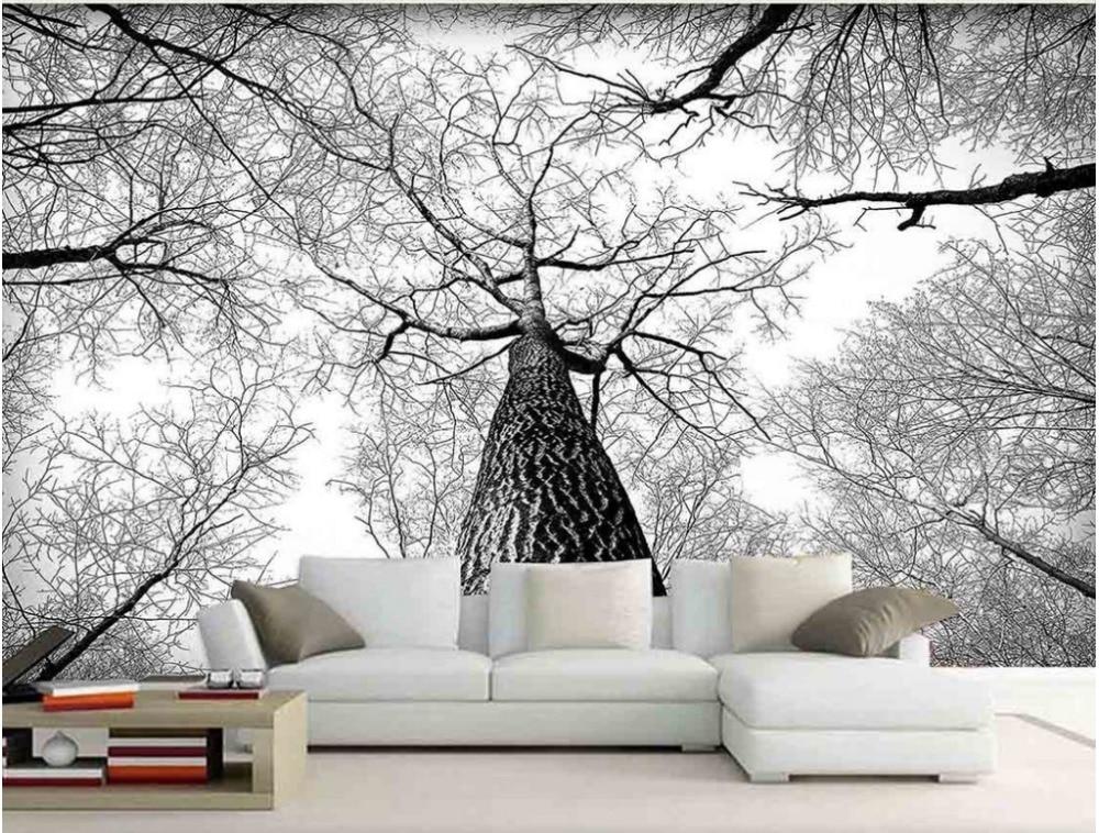 3D Murals Living Room Entrance Mural Wallpaper Black and ...