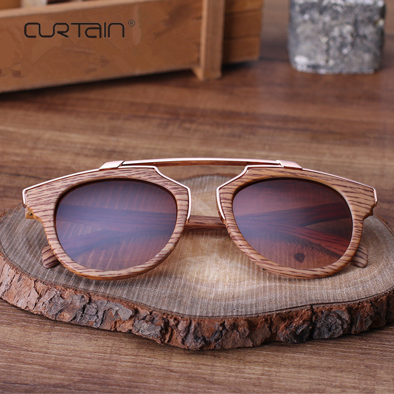 2019 Sun Glasses ladies Vintage Texture Wood Sunglasses high quality lady For Men Women Mirror Eyewear Oculos De Sol Masculino
