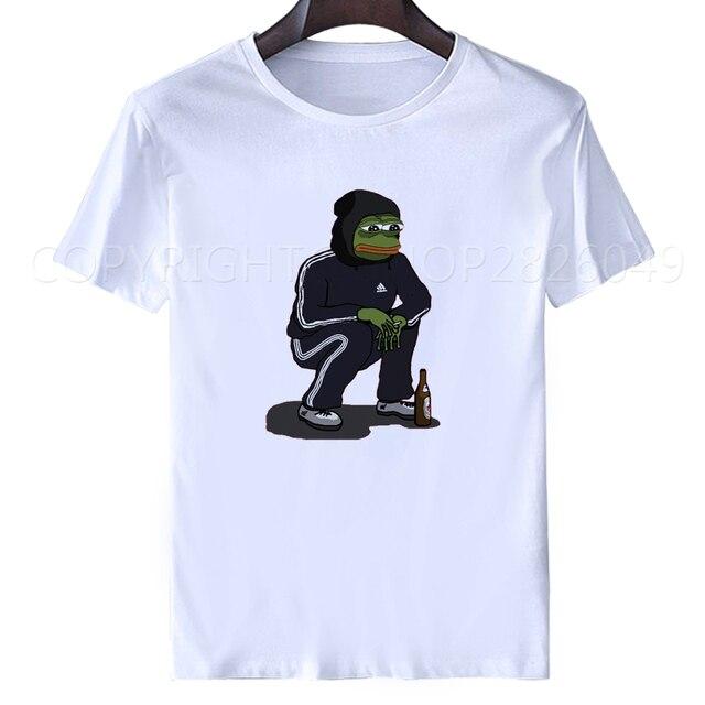 Dank Memes t shirt men 2018 summer white tops It Tee shirts Pepe Custom  Short Sleeve