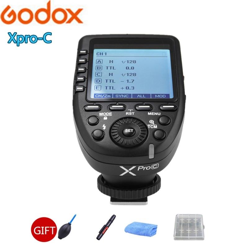 Flash GODOX TT350C d'origine 2.4G HSS GN36 TTL Mini flash Speedlite + XPRO-C pour Canon EOS 800D 650D 600D 750D 77D M5 M3 - 6