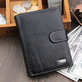 New Arrival 100% Genuine Leather Brand New Men Wallet  Luxurious Cowhide Leather Passport Cover Card Holder  On Sale