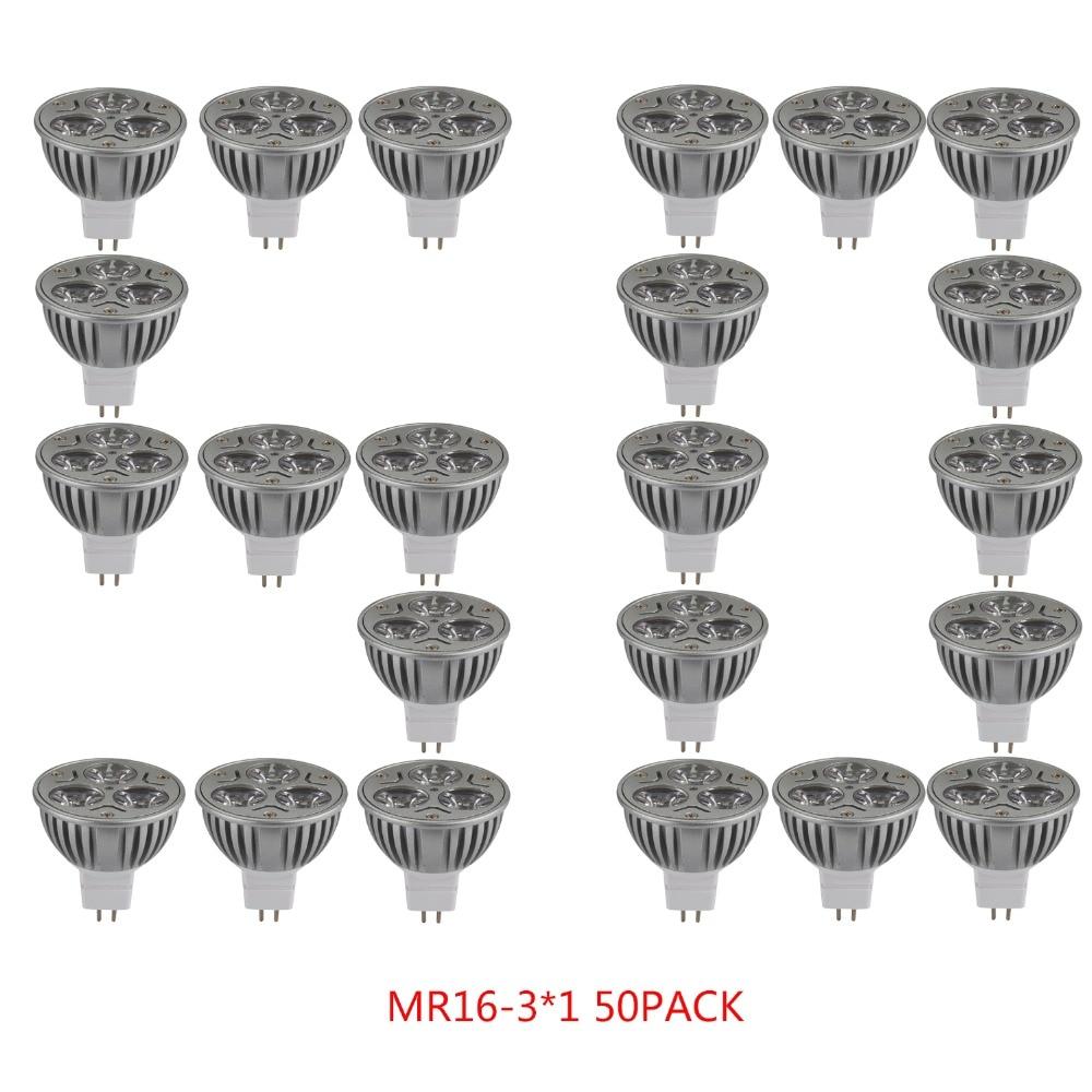 50pcs/lot Led Bulb Led Spotlight Energy Saving 3W 4W 6V 12V 24V High Power Led Light Bulbs MR16 GU5.3 Led Lamp Led Spot Light***