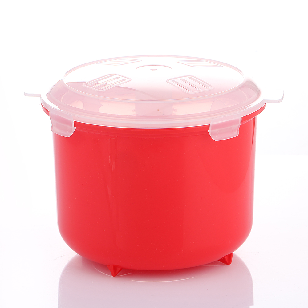 Realand Écologique En Plastique Micro-ondes Riz Vapeur Bol 2.6L/87.9 OZ Cuisinière Maker Sushi Riz BPA Livraison Cuisine Ustensiles