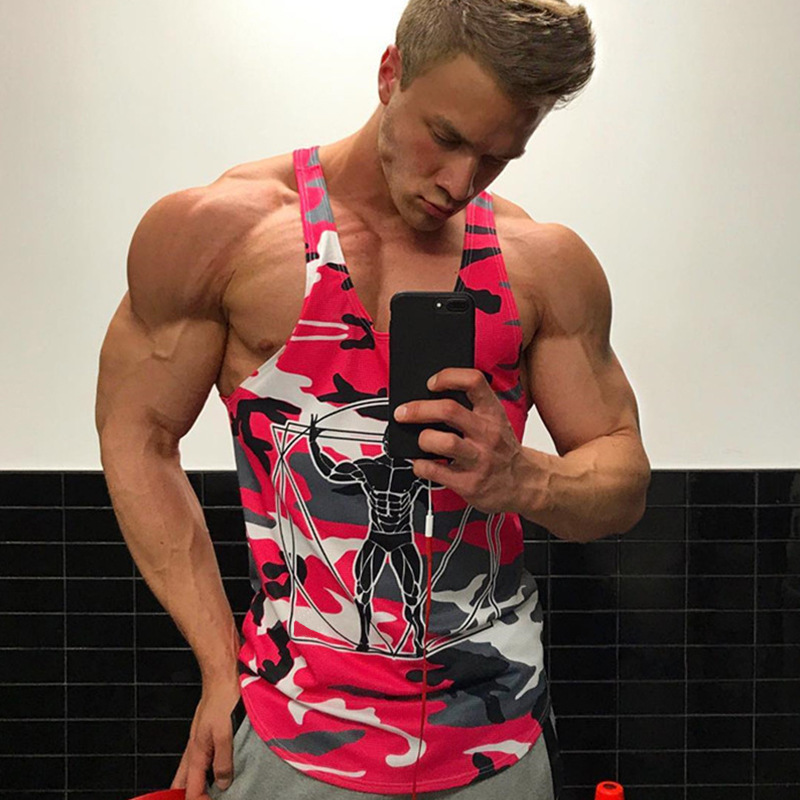 Men Bodybuilding Tank Tops Camouflage sleeveless Shirt Boy Gyms Fitness workout Singlet vest Undershirt Jogger Brand clothing