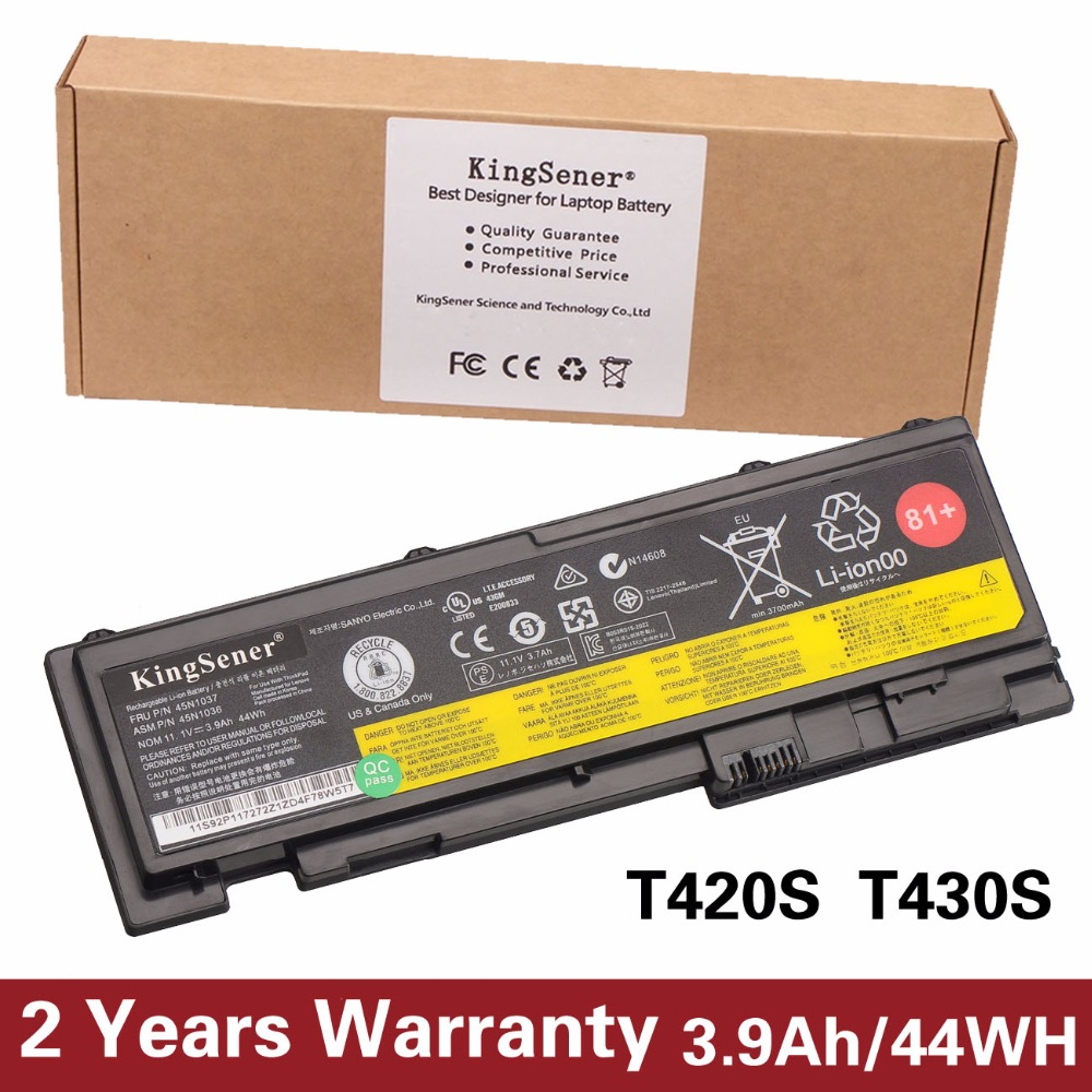 Prix pour 44wh nouvelle batterie d'ordinateur portable pour lenovo thinkpad t420s t420si t430s t430si 45n1039 45n1037 45n1036 42t4846 42t4847 2 ans de garantie