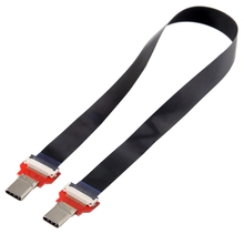 20Cm Fpc Flat Usb 3.1 Type-C Usb-C Male To Male Data Cable For Macbook & Laptop & Phone & Drive