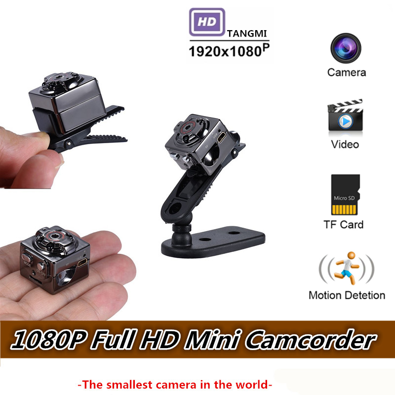 1080p Full Hd Mini Camera Video Dv Dvr Micro Cam Motion Detection With Infrared Night Vision Camcorder Support Hidden Tf Card Matching In Colour Mini Camcorders Camcorders