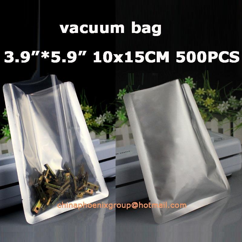 """3,9 """"* 5,9"""" _ 10x15 cm abrir la parte superior de aluminio transparente bolsas de embalaje de polietileno calor al vacío bolsa de almacenamiento de plástico sellada-in Envoltorio y bolsas de plástico Saran from Hogar y Mascotas    1"""